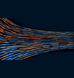 3d orange blue geometric abstract future back vector image