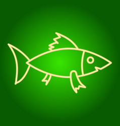 A fish icon vector
