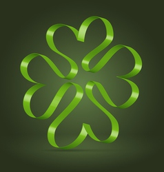 Abstract clover leaf ribbon symbol vector image