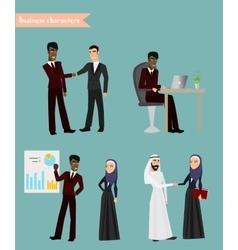 Arab business people meeting vector