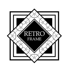 art deco frame vector image