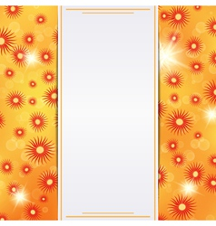 Autumn card template vector image vector image