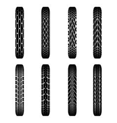 Bikes tire tracks shadows vector