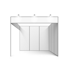 blank white trade exhibition booth system stand vector image