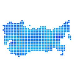 Blue dotted ussr map vector