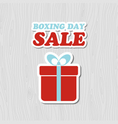 boxing day sale card banner with gift box vector image