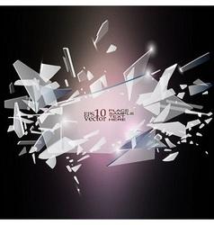 Broken glass design vector image vector image