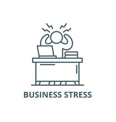 business stress line icon business stress vector image