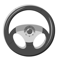Car rudder icon gray monochrome style vector image