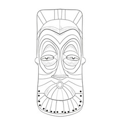 cartoon african mask isolated on white background vector image