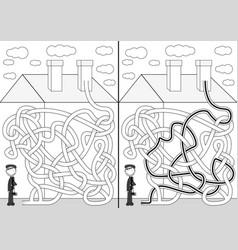 Chimney sweeper maze vector