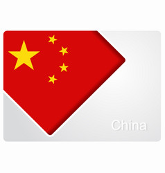 Chinese flag design background vector