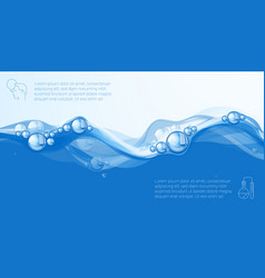 clear blue water flow vector image