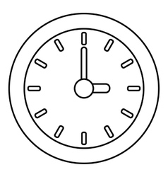 Clock icon outline style vector