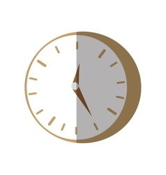 Clock time business money flat icon vector