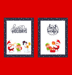 congratulation festive cards with best wishes vector image