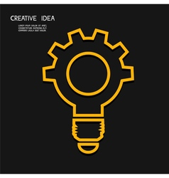 Creative light bulb with gear concept idea conce vector image