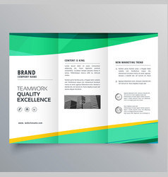 Creative trifold brochure design template for vector