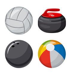 Design of sport and ball logo collection vector