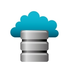 Disk server isolated icon vector