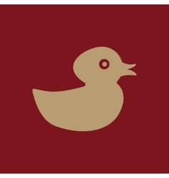 Duck icon design Toy and animal Duck symbol vector image