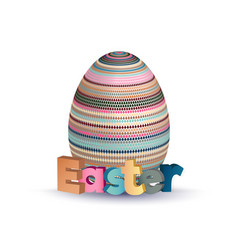 easter greeting concept eggs with geometric vector image