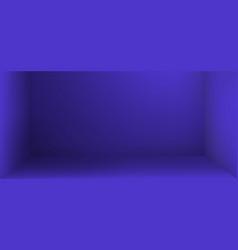 empty studio room with shadow background vector image