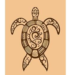 Ethnic ornamented turtle vector