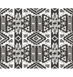 Ethnic seamless pattern in native style Monochrom vector