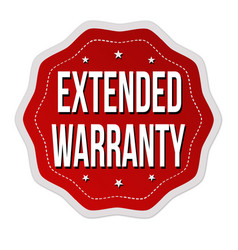 extended warranty label or sticker vector image