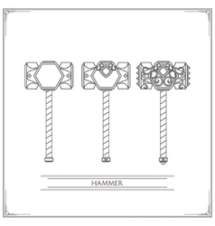 Fantasy Hammer Lineart vector image
