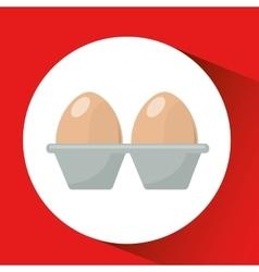 Farm countryside egg food design vector