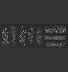 foam bubble set concept background realistic vector image