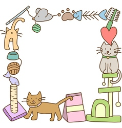 Frame of cat stuff vector