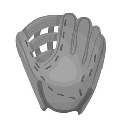 glove trap baseball single icon in monochrome vector image vector image