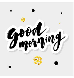 Good morning lettering calligraphy text phrase vector