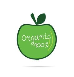 green apple organic vector image