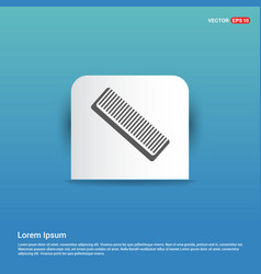 Hair comb icon - blue sticker button vector