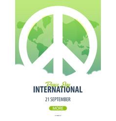 international peace day banner 21 september vector image