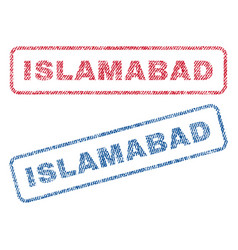 Islamabad textile stamps vector