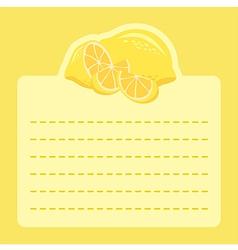 Lemon Memo Notes vector image