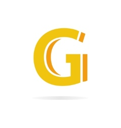 Logo G letter for company design template vector