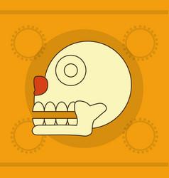 Maya skull design vector
