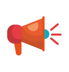 megaphone icon speaker social network vector image