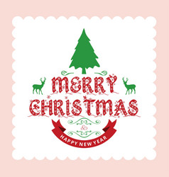 merry chrsimtas with light background vector image