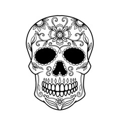 mexican sugar skull design element for logo vector image
