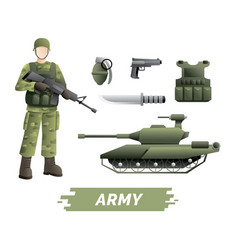 military instruments kit vector image