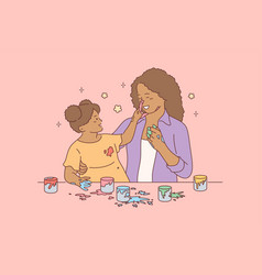 motherhood childhood play fun concept vector image