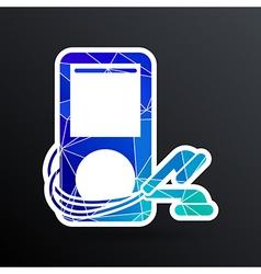 Mp3 player - Original design icon screen stereo vector