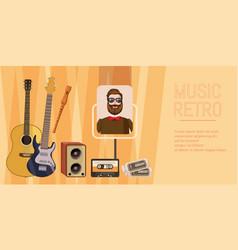 music concert banner horizontal cartoon style vector image